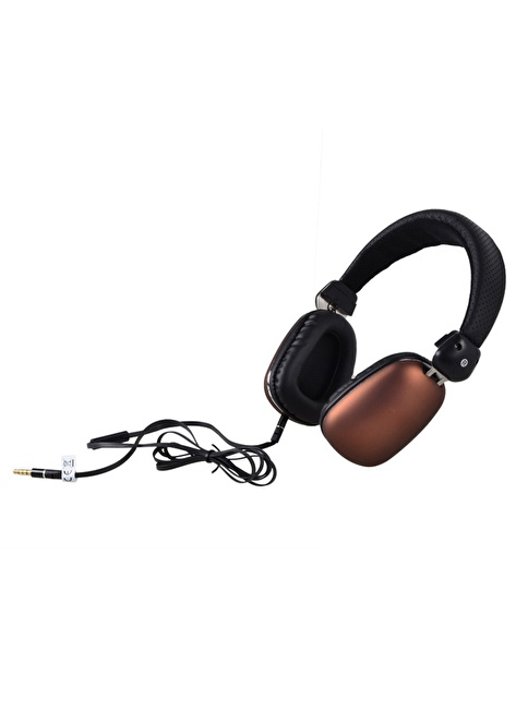 Biggsound Kahverengi Mikrofonlu Kulaklık Renkli